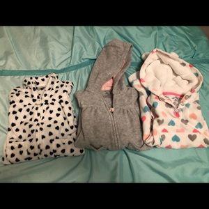 Carters fleece jumpers- baby girls